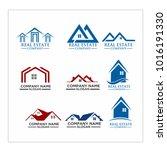 real estate logo set   abstract ...   Shutterstock .eps vector #1016191330
