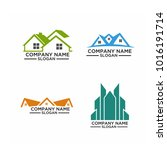 real estate logo set   abstract ... | Shutterstock .eps vector #1016191714