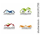 real estate logo set   abstract ... | Shutterstock .eps vector #1016191750