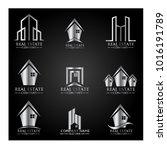 real estate logo set   abstract ...   Shutterstock .eps vector #1016191789