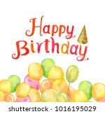happy birthday party... | Shutterstock . vector #1016195029