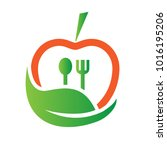 food nutrition logo | Shutterstock .eps vector #1016195206