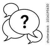 beliefs line icon. opinions... | Shutterstock .eps vector #1016195650