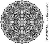 mandala pattern black and white ... | Shutterstock .eps vector #1016202100