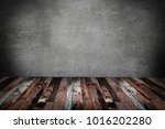 old wooden interior  grunge... | Shutterstock . vector #1016202280