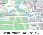 vector city map of berlin... | Shutterstock .eps vector #1016203519
