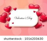 valentine's day abstract... | Shutterstock .eps vector #1016203630
