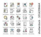 collection of internet and... | Shutterstock .eps vector #1016208664
