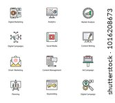 colored icons of internet and...   Shutterstock .eps vector #1016208673