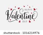 happy valentine day hand... | Shutterstock .eps vector #1016214976