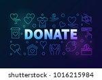 donate vector colored... | Shutterstock .eps vector #1016215984