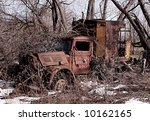 An Old Delivery Truck Abandoned ...
