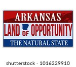 an imitation arkansas license... | Shutterstock .eps vector #1016229910