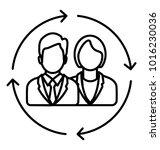 staff resource. line icon...   Shutterstock .eps vector #1016230036