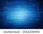 2d illustration technology... | Shutterstock . vector #1016230450