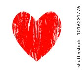 red heart icon for your amazing ... | Shutterstock .eps vector #1016234776