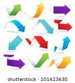 vector arrows in 6 different... | Shutterstock .eps vector #101623630