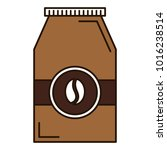 coffee bag product icon | Shutterstock .eps vector #1016238514