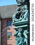 Small photo of Justitia, a monument in Frankfurt, Germany