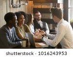 insurance salesman or mortgage... | Shutterstock . vector #1016243953