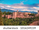 palace and fortress complex... | Shutterstock . vector #1016249239