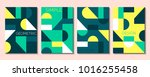 set of 4 simple geometric... | Shutterstock .eps vector #1016255458