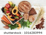 high fibre health food concept... | Shutterstock . vector #1016283994