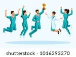 isometrics doctors jump ... | Shutterstock .eps vector #1016293270