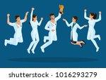 isometrics doctors jump ... | Shutterstock .eps vector #1016293279