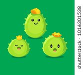 happy cactus logo  cartoon... | Shutterstock .eps vector #1016301538