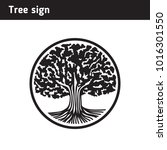 sign in the form of an old tree ... | Shutterstock .eps vector #1016301550