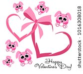 greeting card day of st.... | Shutterstock .eps vector #1016308018