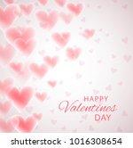 valentine s day gift card... | Shutterstock .eps vector #1016308654