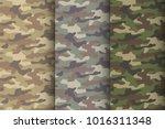 camouflage seamless pattern set.... | Shutterstock .eps vector #1016311348