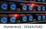 cryptocurrency mining farm. 3d... | Shutterstock . vector #1016315260