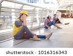 multiethnic diverse group of... | Shutterstock . vector #1016316343