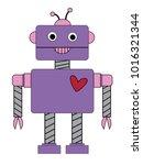 valentines day robot   Shutterstock . vector #1016321344