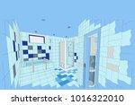 project of sauna and showers... | Shutterstock .eps vector #1016322010