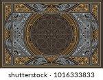 decorative ornate retro design... | Shutterstock .eps vector #1016333833