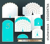 wedding design templates.... | Shutterstock .eps vector #1016334766