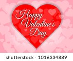 happy valentines day red heart... | Shutterstock .eps vector #1016334889