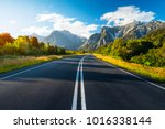 scenic and adventure road named ... | Shutterstock . vector #1016338144