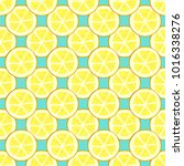 lemon set pattern | Shutterstock .eps vector #1016338276