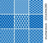 set of vector seamless... | Shutterstock .eps vector #1016346280