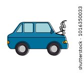 car burning isolated icon | Shutterstock .eps vector #1016350033