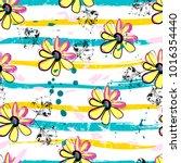 floral seamless pattern... | Shutterstock .eps vector #1016354440