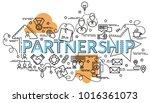 flat colorful design concept... | Shutterstock .eps vector #1016361073