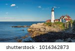 panorama of portland lighthouse ... | Shutterstock . vector #1016362873