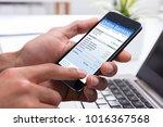 close up of a businessperson's... | Shutterstock . vector #1016367568