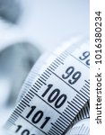 curved measuring tape.... | Shutterstock . vector #1016380234